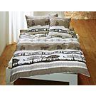 Linge de lit avec motif alpestre – Fourre de duvet – 200x210 cm