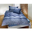 Parure de lit à joli motif dans les tons de bleu – Taie d'oreiller – 50x70 cm