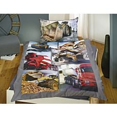 Parure de lit avec machines de chantier