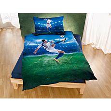 Linge de lit avec joueur de football