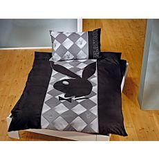 Linge de lit Playboy noir-gris