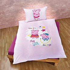 Parure de lit Peppa Pig avec Peppa et George