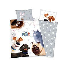 Parure de lit PETS 2 avec les animaux domestiques bien connus