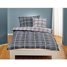 Linge de lit à carreaux discrètes