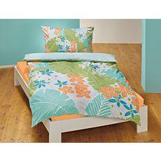 Linge de lit avec motif estival fleuri