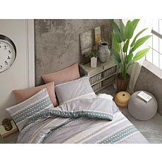 Linge de lit avec différents motifs dans des couleurs subtiles