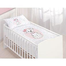 Parure de lit avec un mignon chiot dalmatien et un petit chat