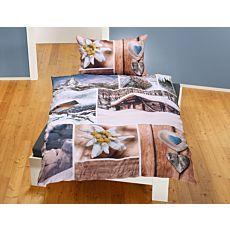 Parure de lit à motifs hivernaux