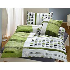 Linge de lit à rayures et à pois