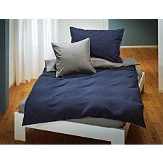 Parure de lit en flanelle au look chiné