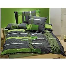 Linge de lit en jersey à rayures, vert