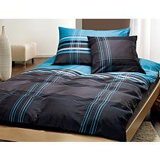Parure de lit élégant noir, bleu & blanc