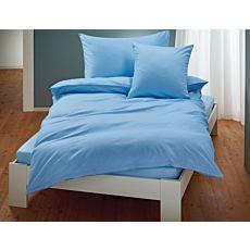 Linge de lit uni en satin avec liseré