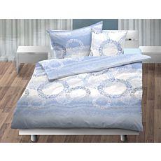 Linge de lit à cercles à pois sur fond de couleur assortie