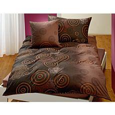 Parure de lit à cercles et motif de mandala dans les tons de bruns