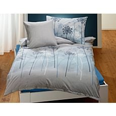 Parure de lit à motif de pissenlits sur fond gris