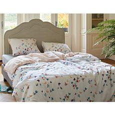 Parure de lit ESPRIT Spring Butterlies avec petits papillons multicolores