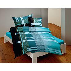 Parure de lit à motif moderne de rayures mélangées