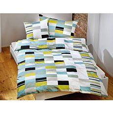 Parure de lit avec motif de carreaux bleu-vert