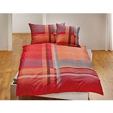 Parure de lit rayé avec un léger dégradé de couleurs