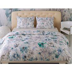 Linge de lit en satin Mirabello Fleur de Manet