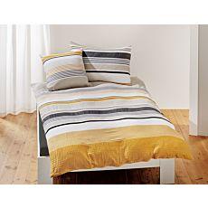 Parure de lit au mélange frais de rayures