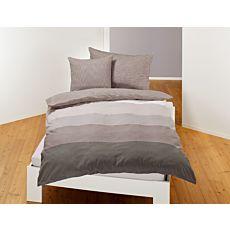 Parure de lit à larges bandes transversales
