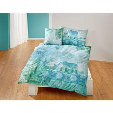 Parure de lit de style asiatique avec motifs d'éléphants et de mandalas