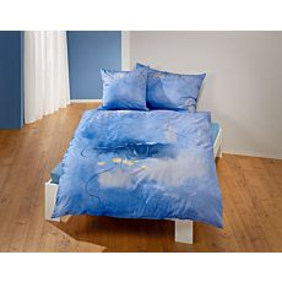 Parure de lit avec superbe imprimé floral et pluie d'or