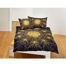 Parure de lit avec mandala en forme d'étoile et motif de feu d'artifice