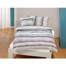 Parure de lit à motif de rayures genre aquarelle