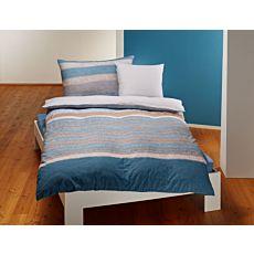 Parure de lit agrémenté d'un mélange de rayures colorées