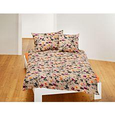 Parure de lit avec motif floral sur toute la surface