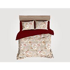 Parure de lit avec grand et magnifique motif floral