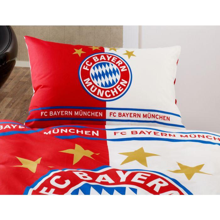 80 x 80 cm FC Bayern M/ünchen Parure de lit r/éversible 100 /% flanelle de coton de qualit/é allemande Mia San Mia Alianz Arena Football FCB avec fermeture /Éclair 135 x 200