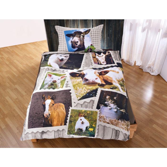 Parure de lit motif ferme
