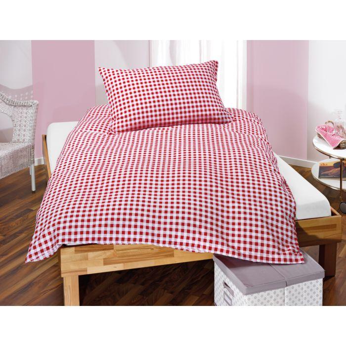 Parure de lit en seersucker à carreaux