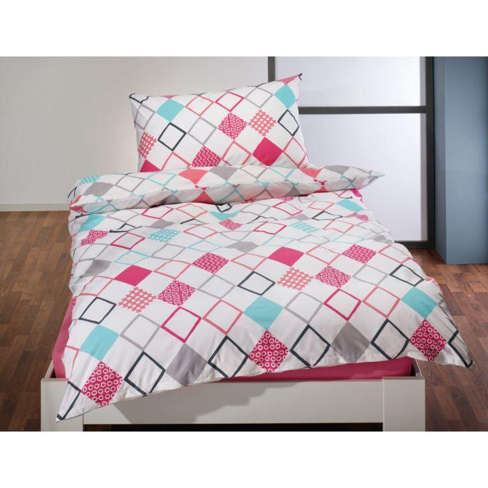 Linge de lit à carreaux gais et colorés