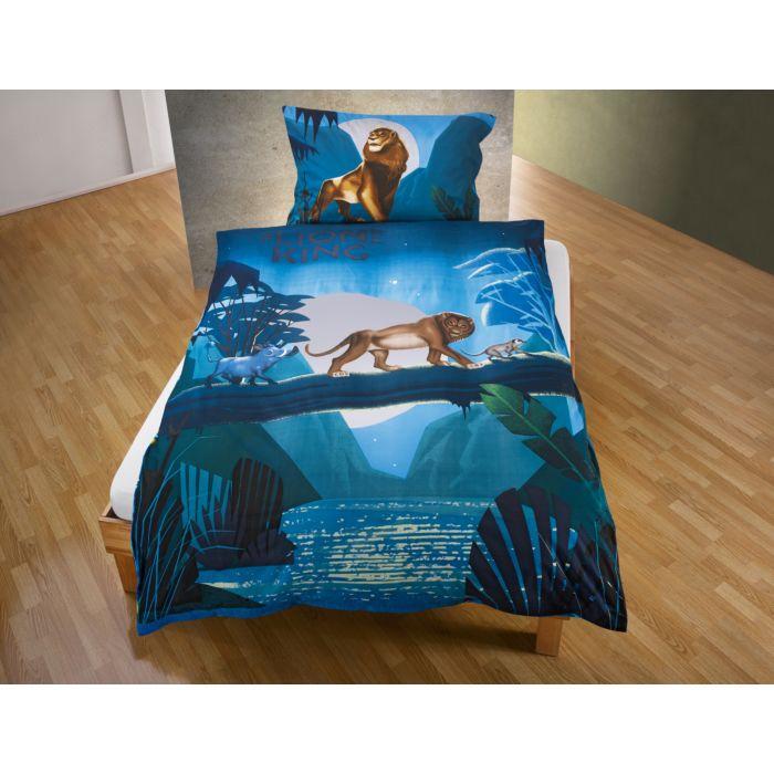 """Parure de lit avec personnages du """"Roi Lion"""""""