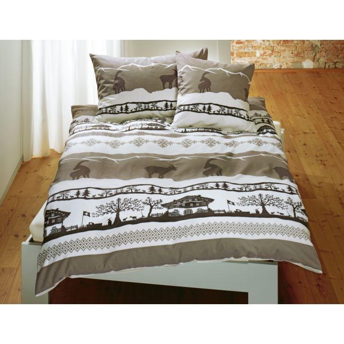 Linge de lit avec motif alpestre