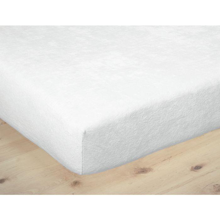 Molleton-housse éponge en coton peigné
