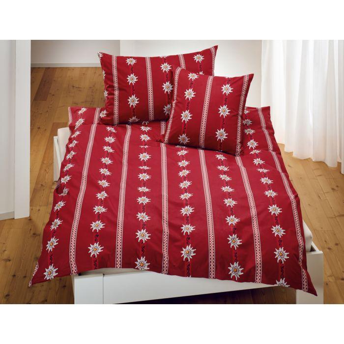 Linge de lit avec edelweiss