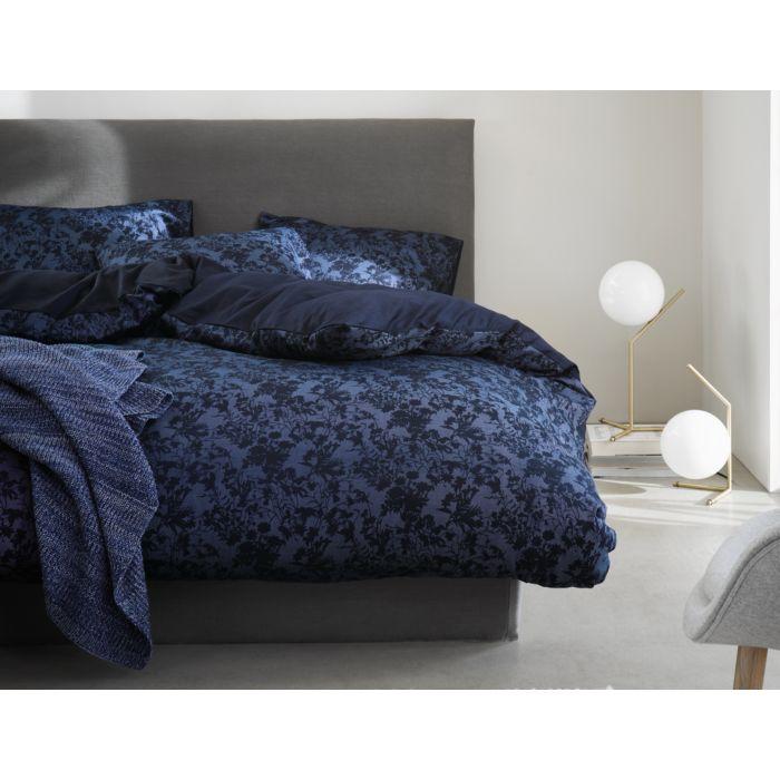 Linge de lit en satin Marc O'Polo Lavea blue
