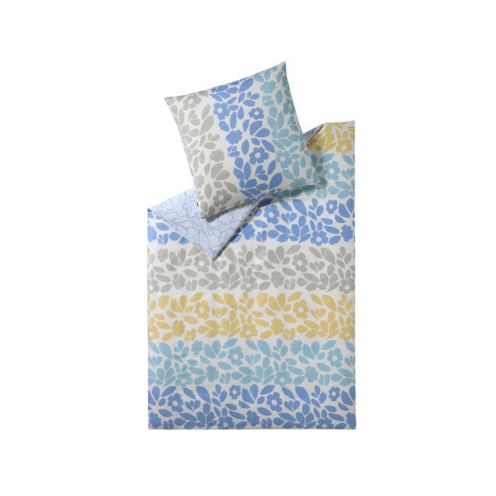Parure de lit ESPRIT imprimé de feuilles et de fleurs en coloris clairs